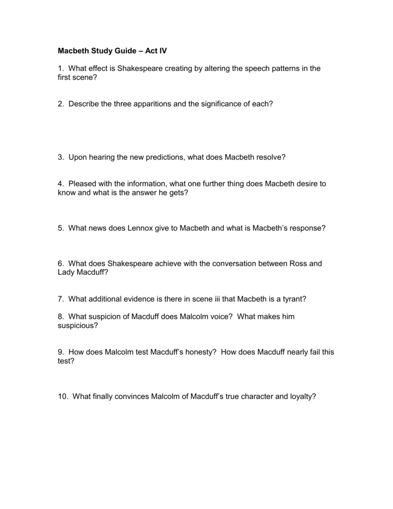 macbeth study guide answers act 2 scene 4