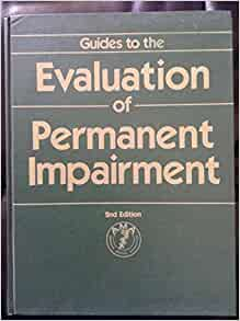 ama 4 guides to the evaluation of permanent impairment pdf