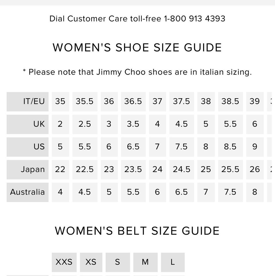 shoe size guide australia mens
