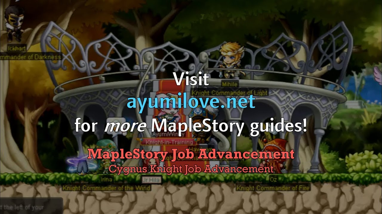 maplestory 5th job advancement guide youtube