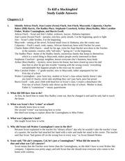 a to kill a mockingbird study guide pdf milliken