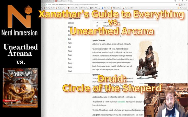xanathar guide to everything races and classes