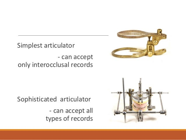 condylar guides of the articulator
