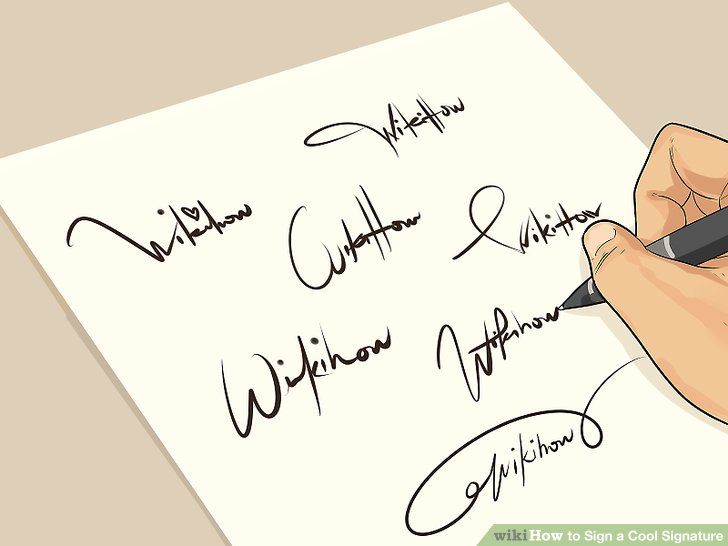 guide to signing the best signitiure