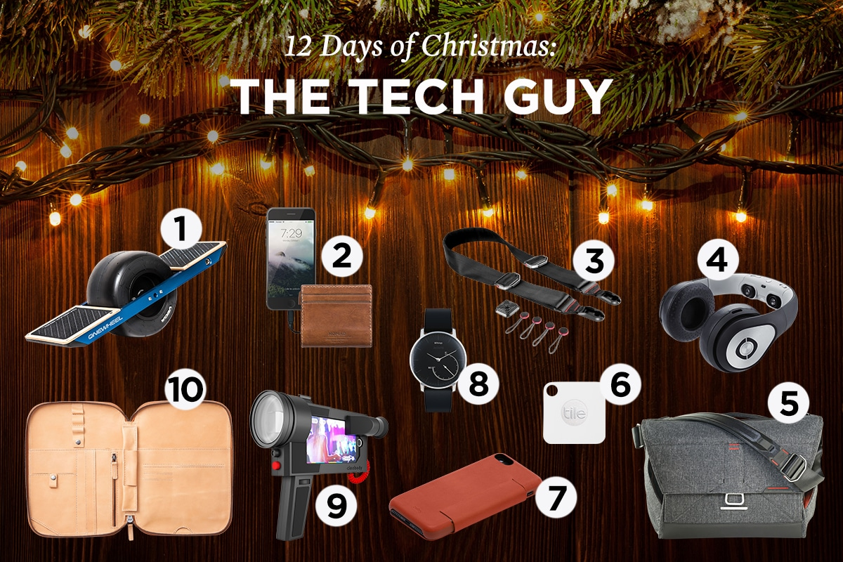 2016 christmas gift guide male tech