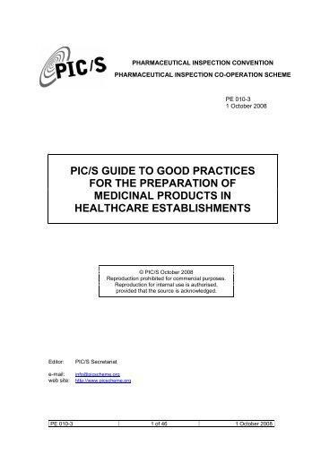 pic s gmp guide for blood establishments
